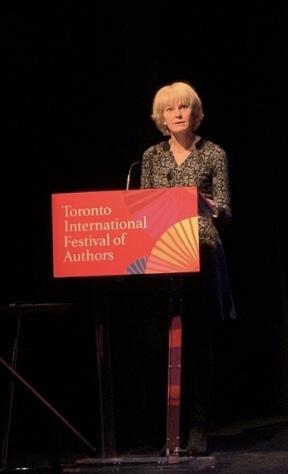 Catherine Graham at Podium